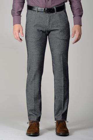 grey trousers woolen effect slim Angelico