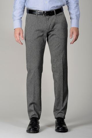 grey trousers dyed cover slim Angelico