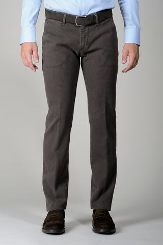 brown trousers honeycomb slim Angelico