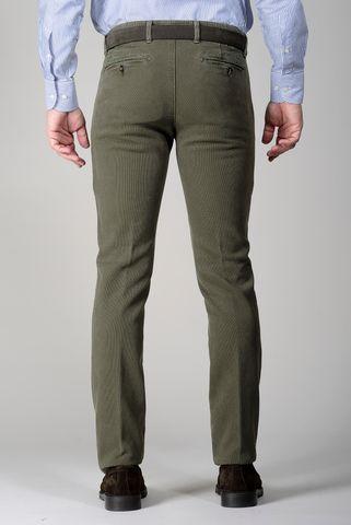 pantalone verde bosco nido ape tc slim Angelico