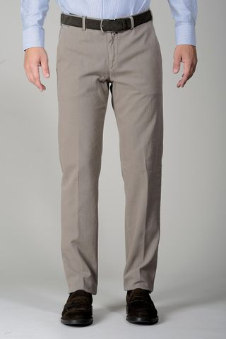 sand trousers dyed twill cotton Angelico
