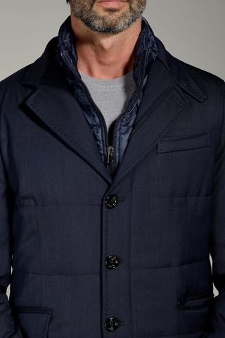 navy field jacket with bib Angelico