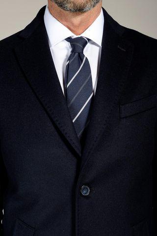 cappotto blu lana-cashmere Angelico