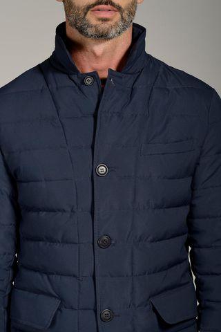 giacca blu trapuntata ecopiuma Angelico