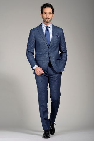 sugar blue suit slim structured Angelico