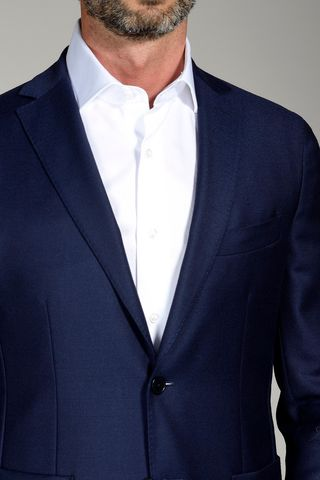 navy blazer unlined slim Angelico