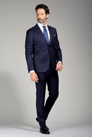 abito blu sallia slim lungo Angelico