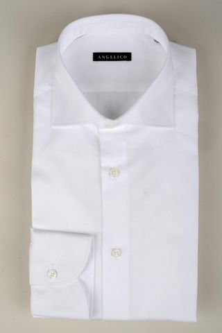 Camicia bianca twill francese slim Angelico