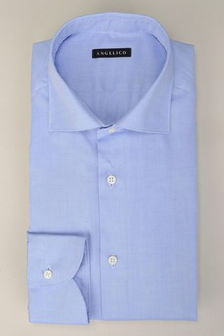 Camicia azzurra giro inglese slim Angelico
