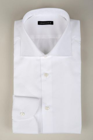 Camicia bianca twill francese Angelico