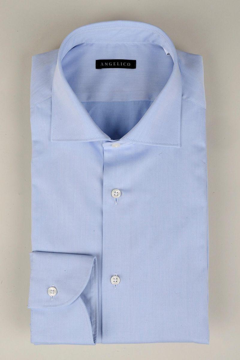 camicia azzurra twill francese Angelico