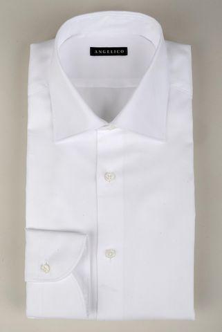 Camicia bianca panama collo Italiano Angelico