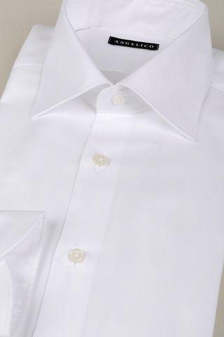white panama shirt italian collar Angelico
