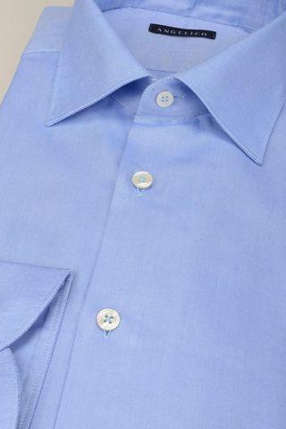 camicia azzurra panama collo italiano Angelico