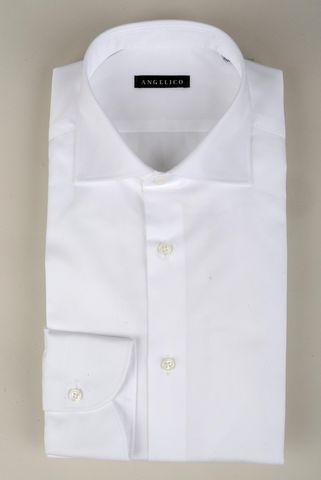 Camicia bianca twill comoda francese Angelico