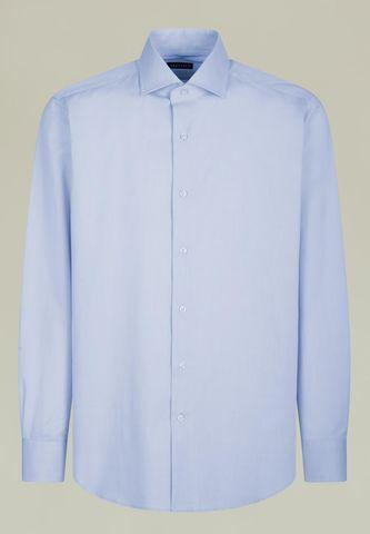 Camicia azzurra twill comoda francese Angelico