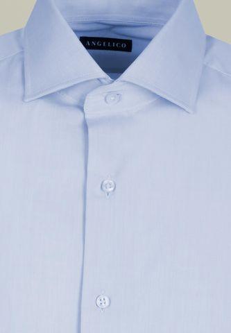 light blue twill shirt comfort Angelico
