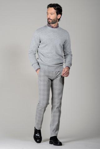 Girocollo grigio chiaro lana cashmere Angelico