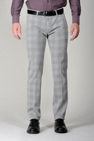 Pantalone grigio Galles cotone slim Angelico