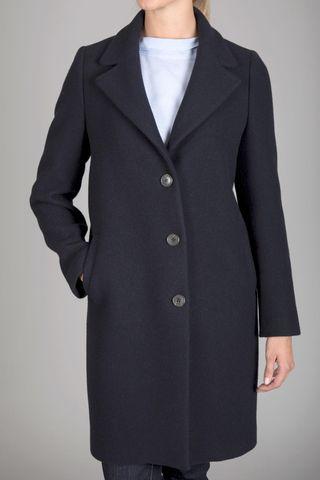 navy blue coat Angelico