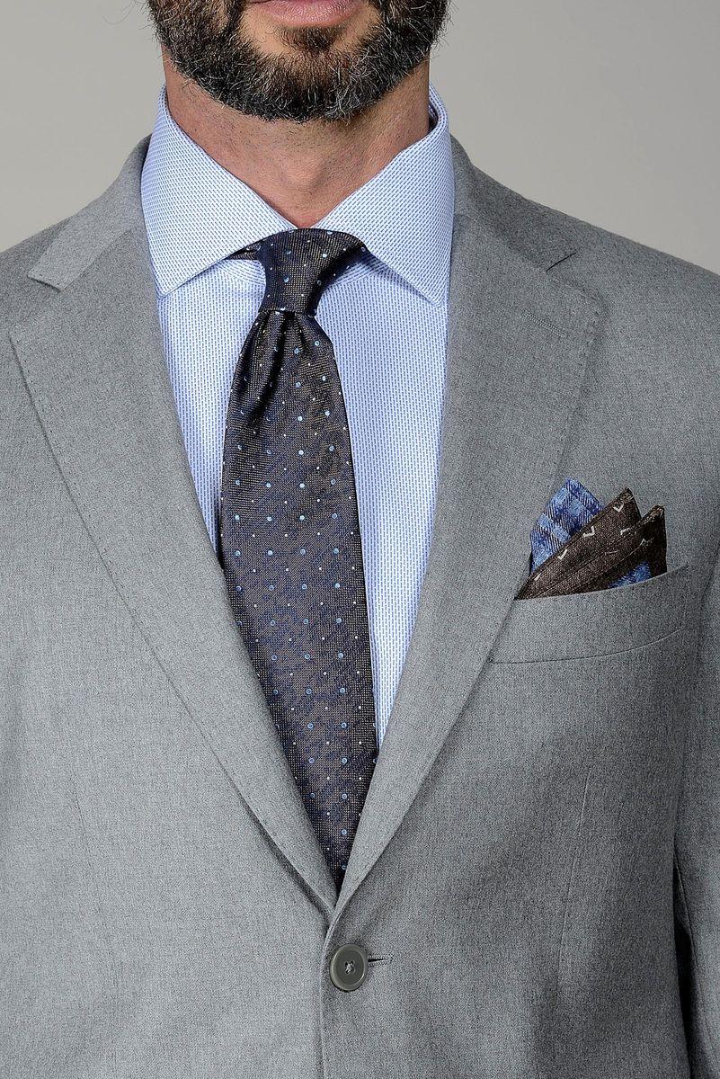 abito grigio chiaro flanella stretch slim Angelico