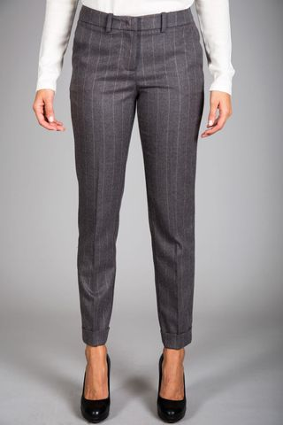 gray pinstripe trousers Angelico