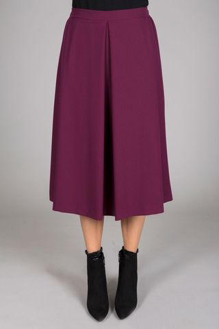 plum flared skirt with fold Angelico
