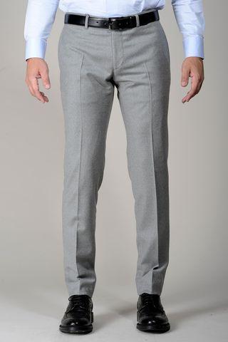 Pantalone grigio chiaro flanella stretch slim Angelico