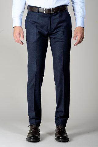 Pantalone avio flanella stretch slim Angelico