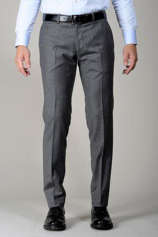 Pantalone grigio flanella stretch slim Angelico