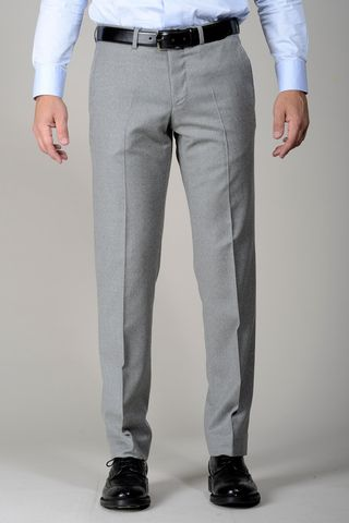 Light grey stretch flannel trousers Angelico