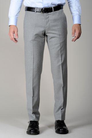 Pantalone grigio chiaro flanella stretch Angelico
