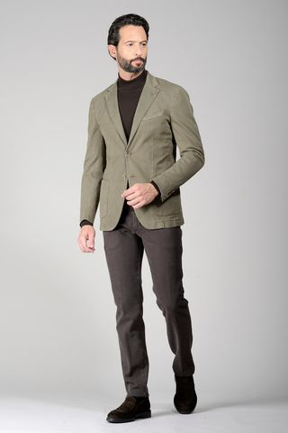 mastic jacket dyed stretch cotton slim Angelico