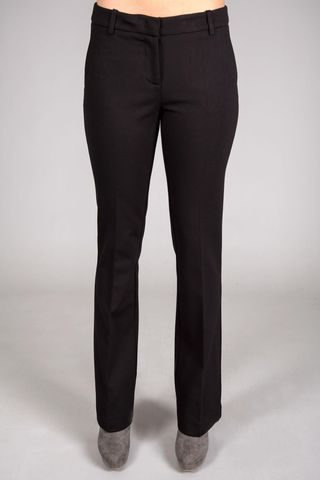 black stretch flared trousers pants Angelico