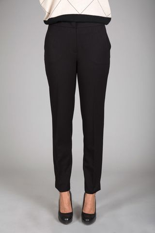 black stretch cigarette pants Angelico