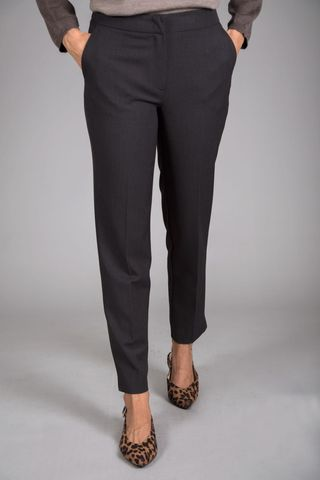 charcoal stretch cigarette pants Angelico