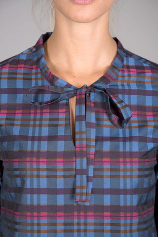 scottish blue shirt with bow Angelico