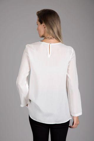 blusa bianca svasata Angelico