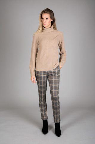 Pantalone grigio-cammello scozzese Angelico