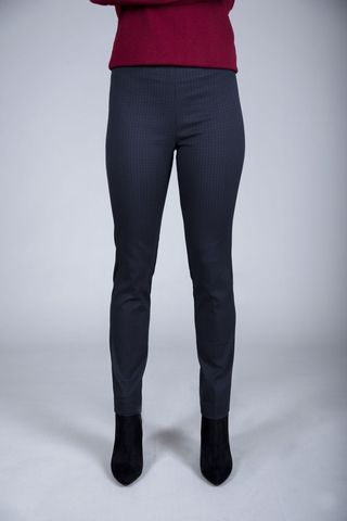 dark blue fancy cigarette trousers Angelico