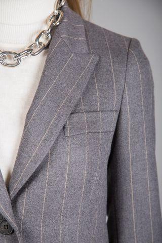 giacca grigia gessata Angelico