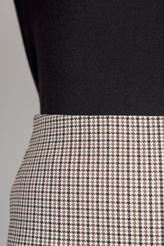 brown-black piedpoule skirt Angelico