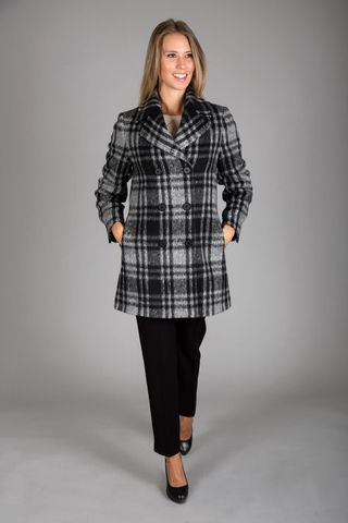 Double-breasted black-gray coat Angelico