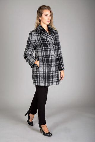 cappotto nero-grigio quadri doppiopetto Angelico