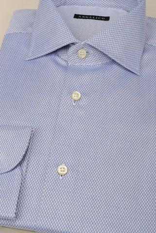 Camicia azzurra rombi NO-STIRO Angelico