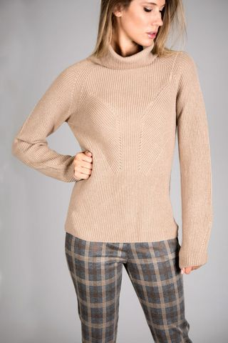 camel turtleneck merino's wool Angelico