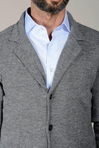 cardigan grigio modello giacca Angelico
