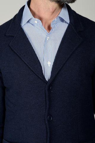 cardigan blu modello giacca Angelico