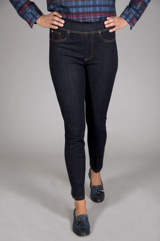 Jeans fuseaux blu Angelico