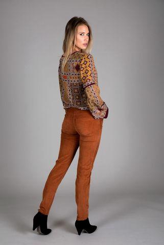 blusa fantasia vinaccia-arancio giro Angelico